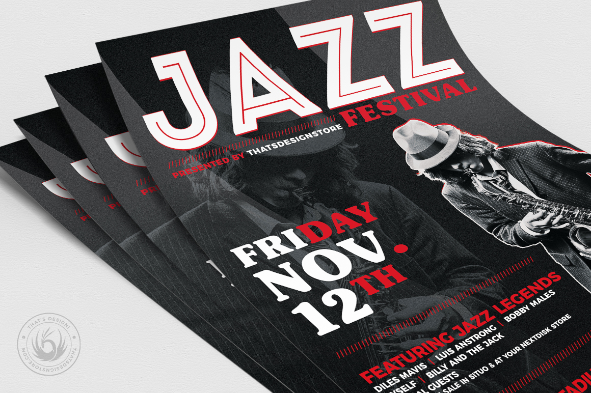 Jazz Festival Flyer Template V3 example image 5