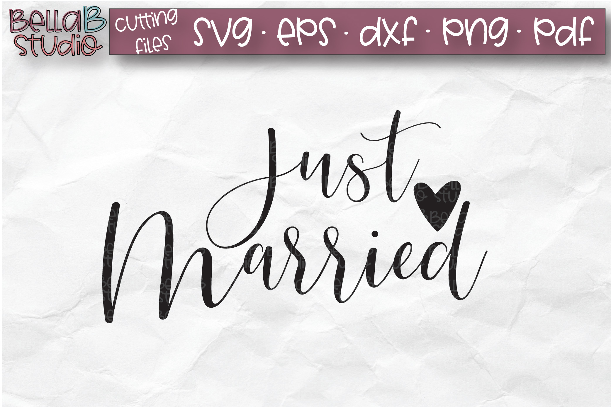 Wedding Sign SVG, Just Married SVG File example image 2