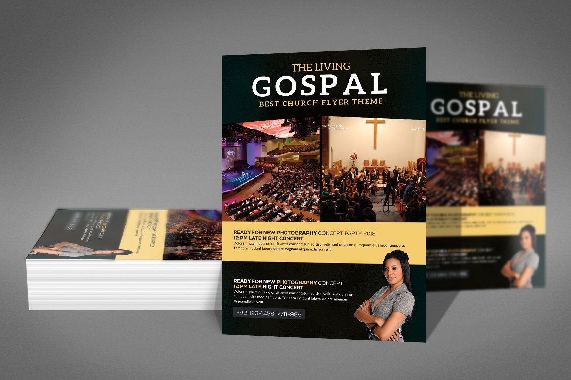The Living Gospel Flyer example image 2