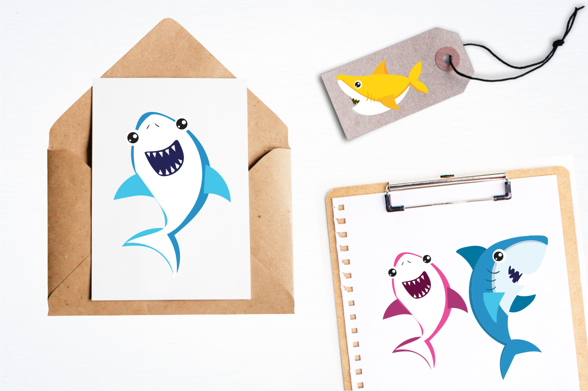 Baby Sharks graphic and illustrations example image 4