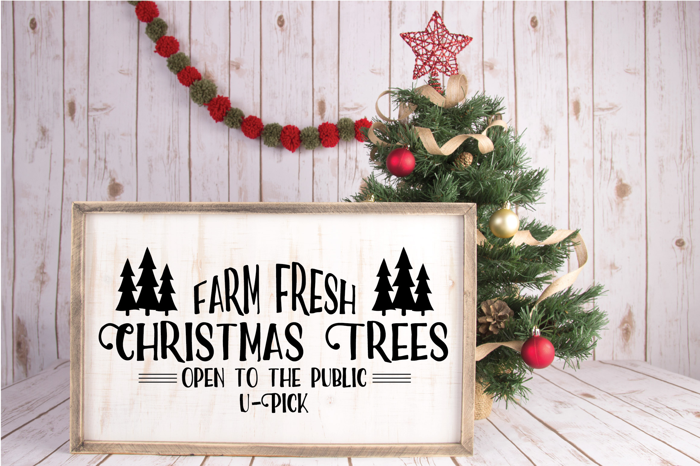 Christmas SVG Cut File - Christmas Trees SVG DXF PNG EPS JPG example image 2