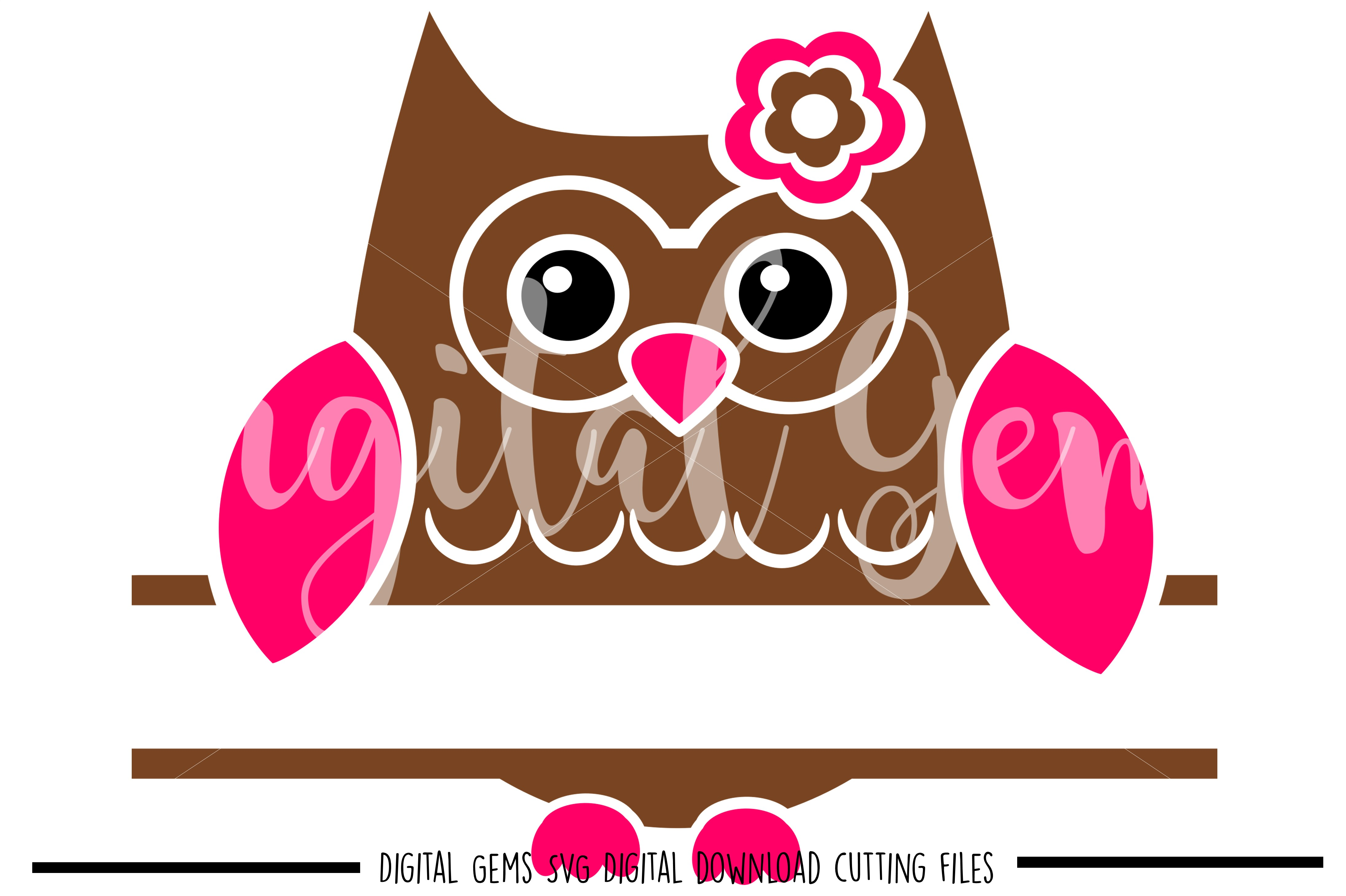 Split Owl SVG / DXF / EPS / PNG files example image 1