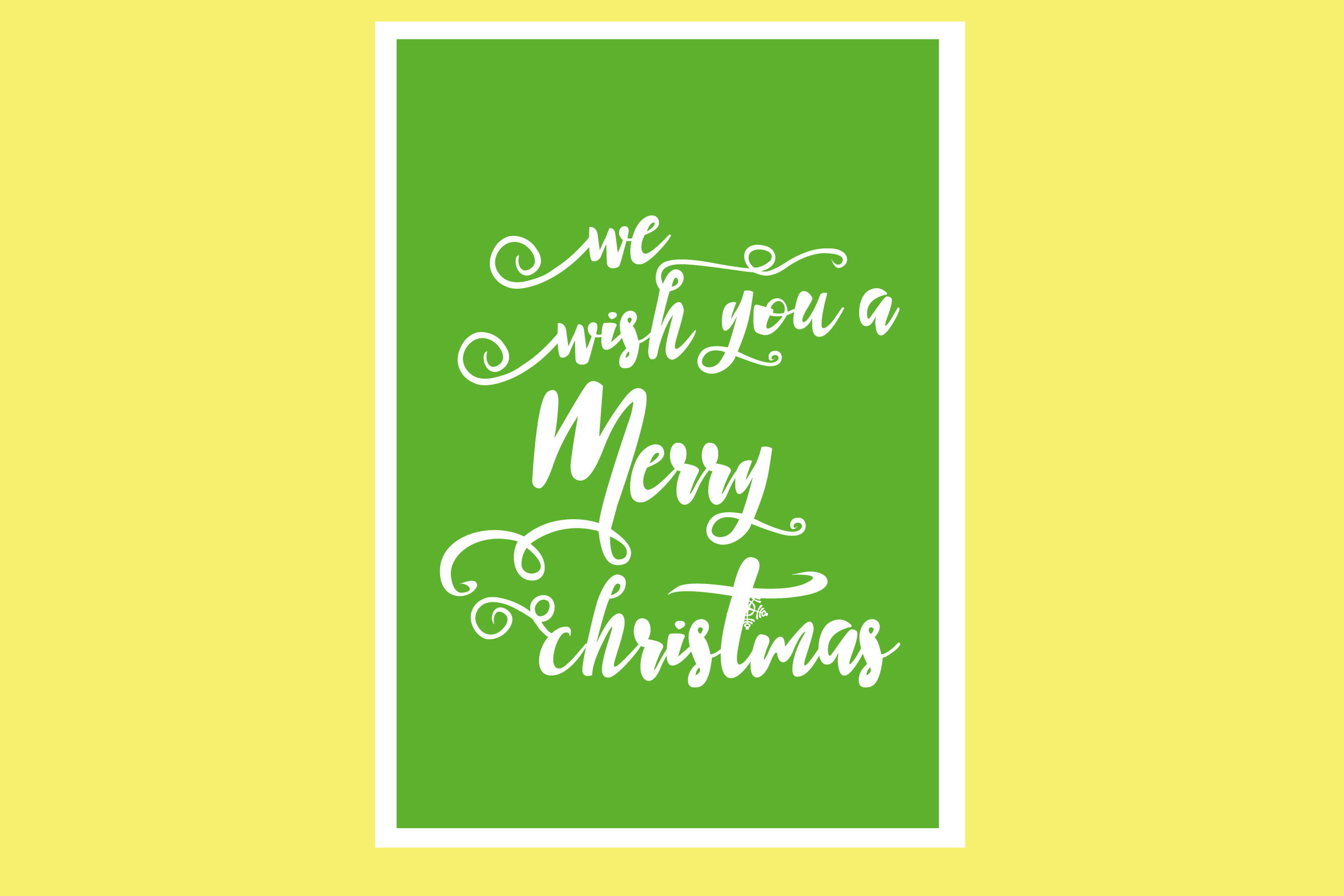 AA25-Christmas Greetings cards 6 Designs - SVG Bundle example image 6