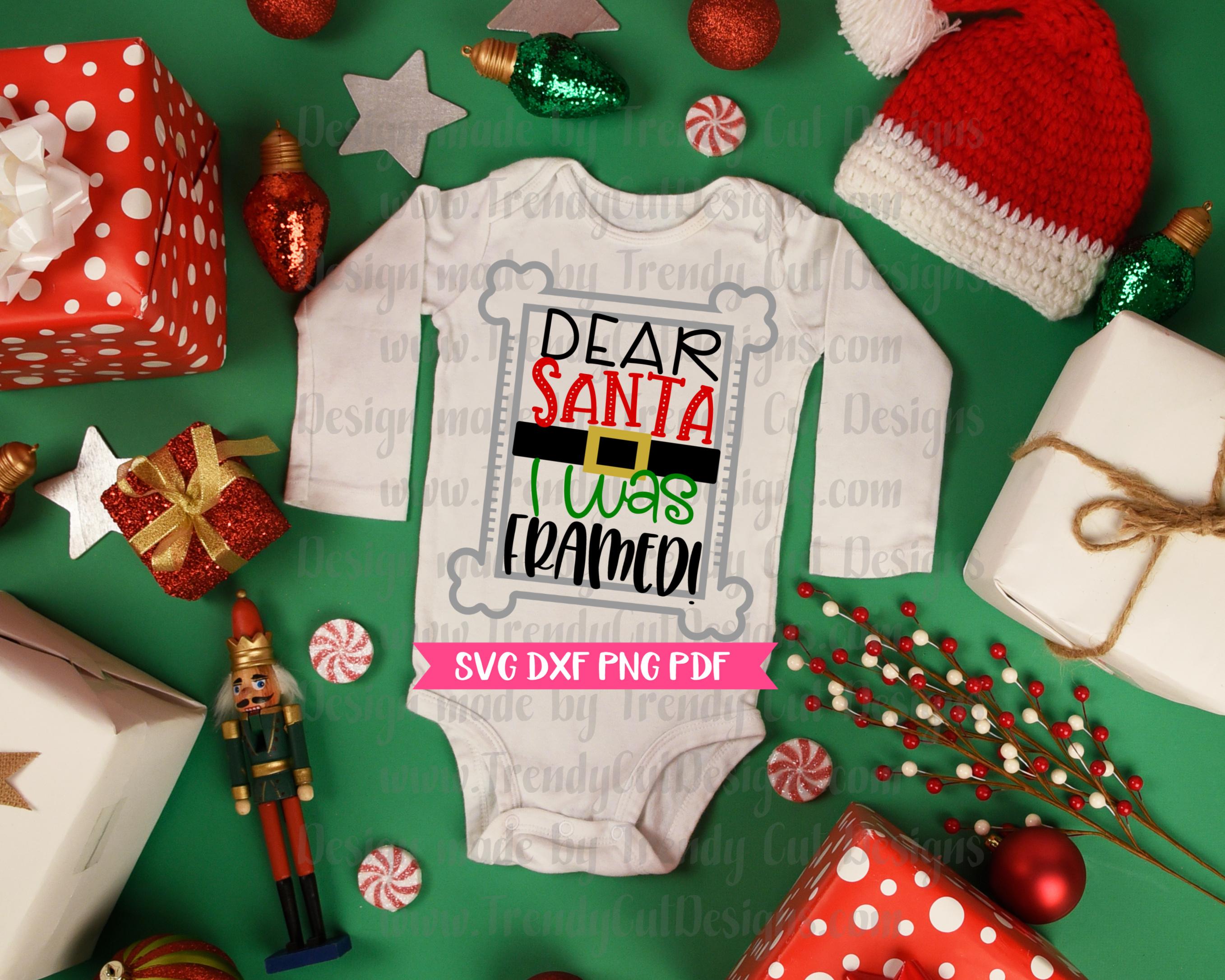 Dear Santa I was Framed SVG example image 2