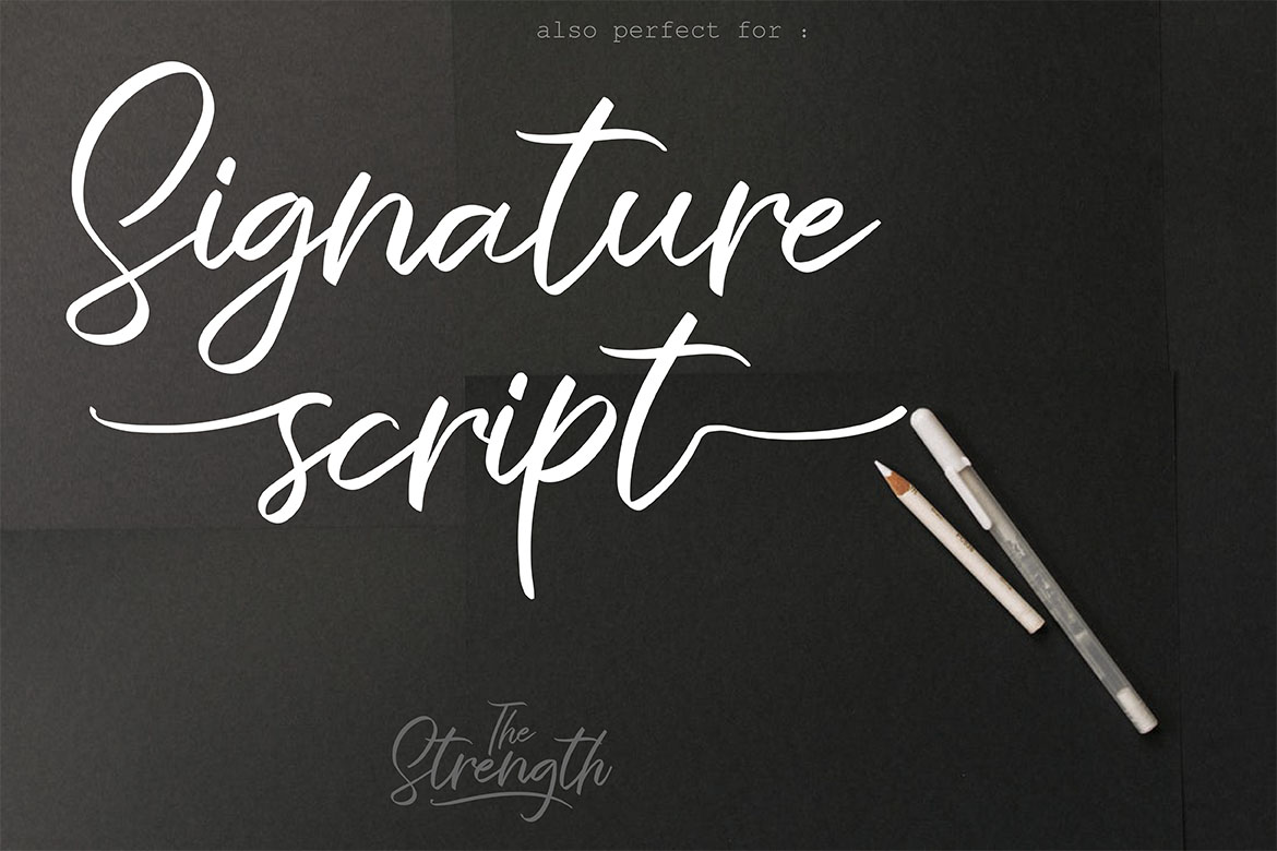 The Strength - A Branding Script example image 5