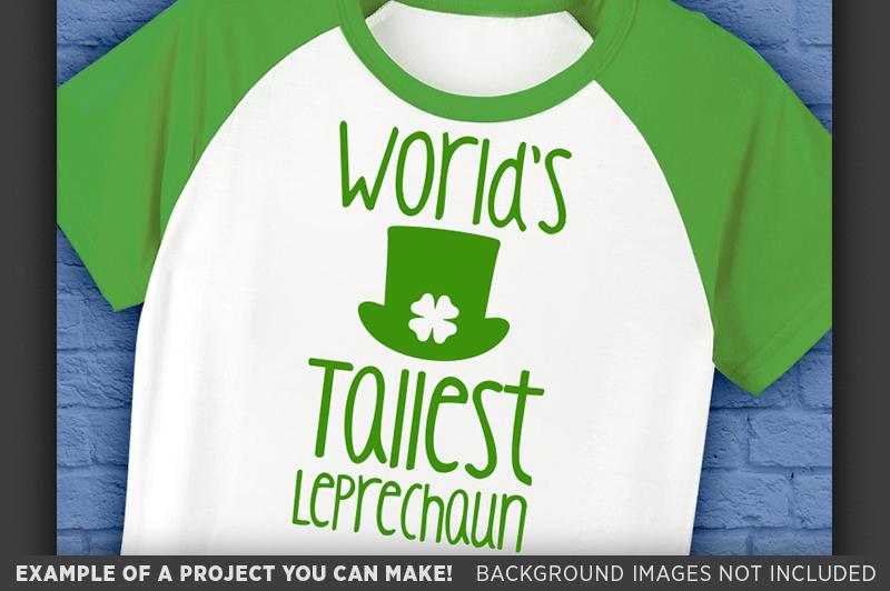 World's Tallest Leprechaun SVG - Kids St Patricks Day - 1072 example image 3
