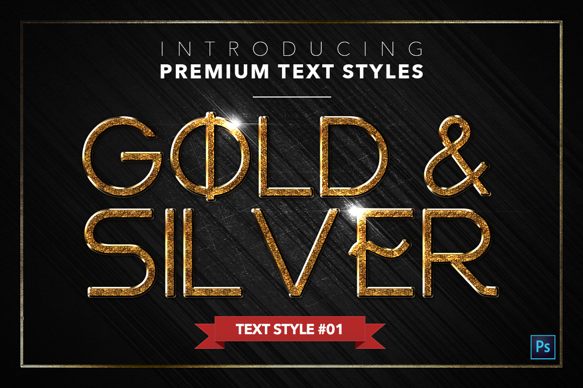 Gold & Silver #5 - 15 Text Styles example image 2