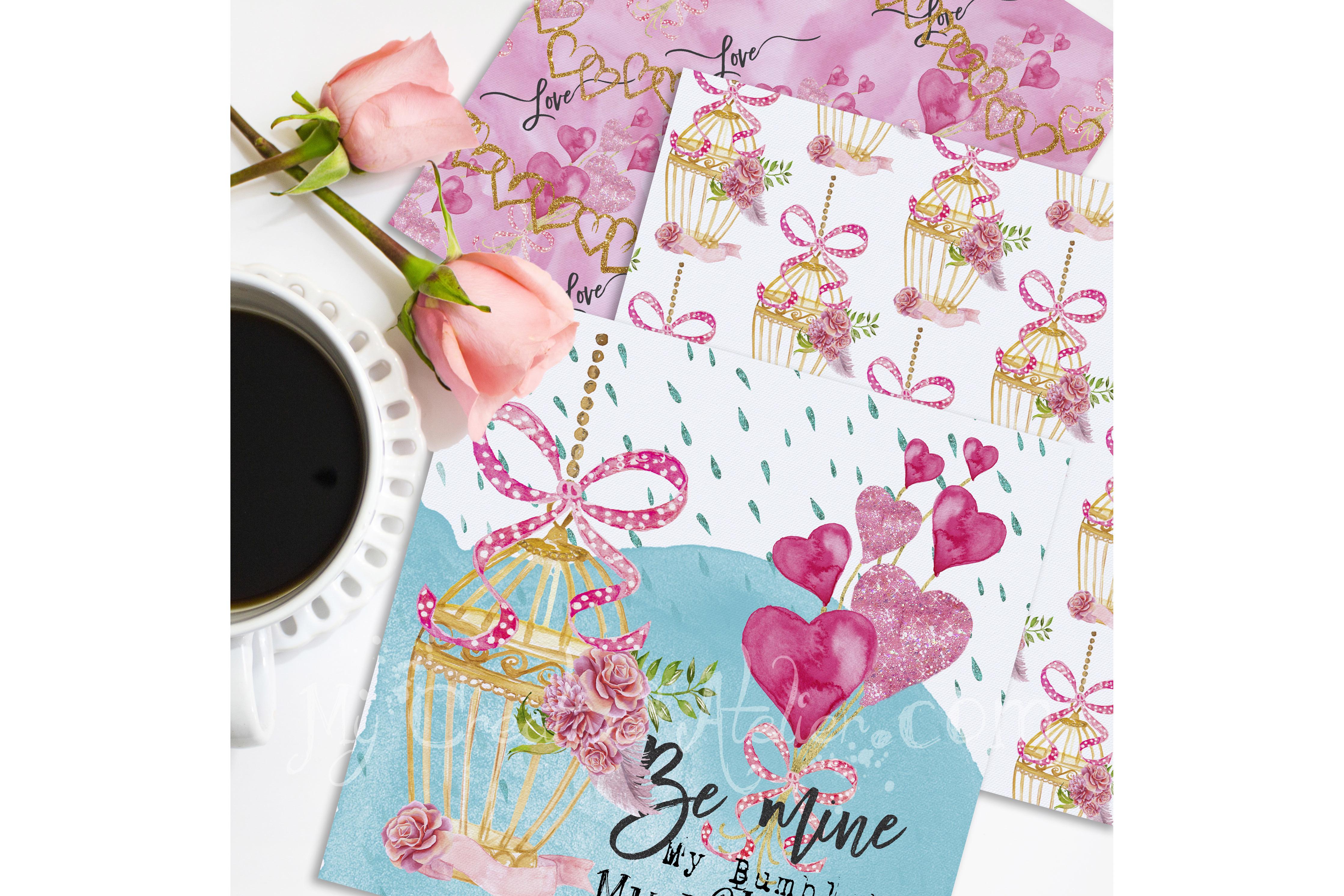 Valentine Digital Paper example image 2