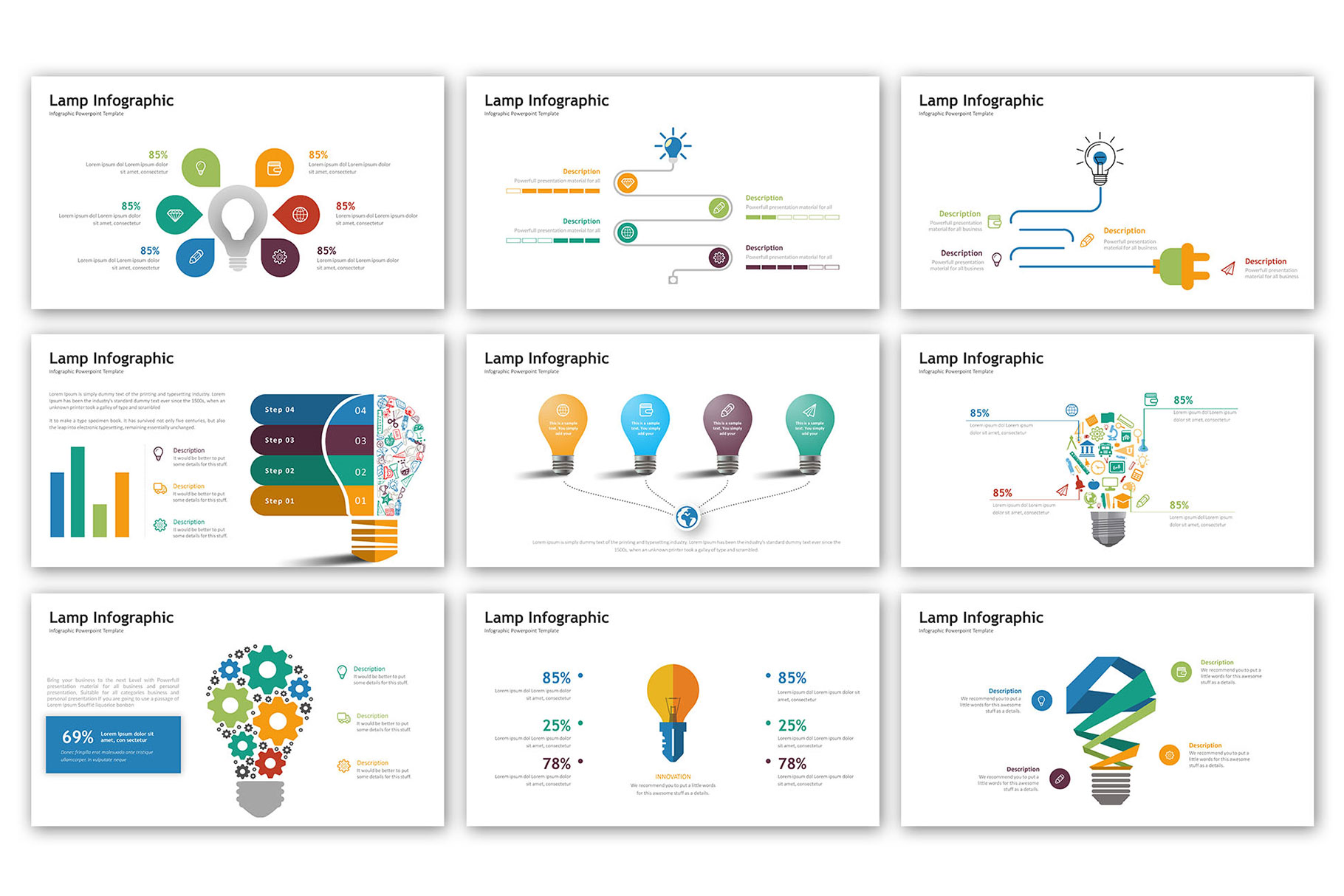 Lamp Presentation - Infographic Template example image 2