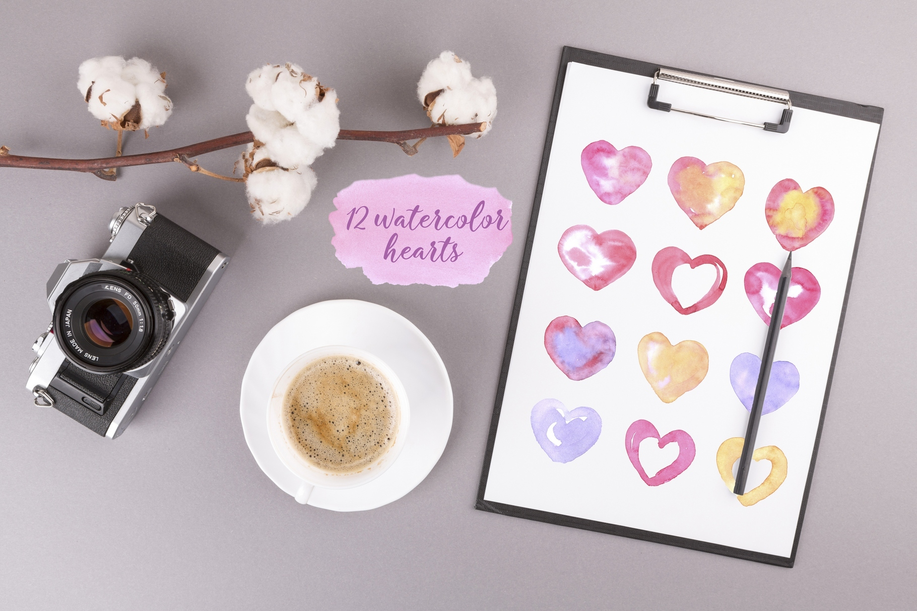 Watercolor Love collection example image 3