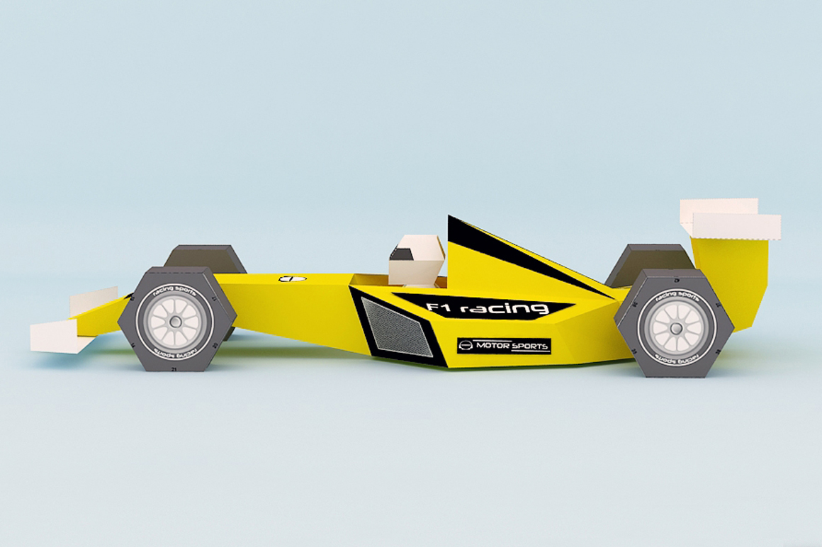 DIY F1 Car - 3d papercraft example image 3