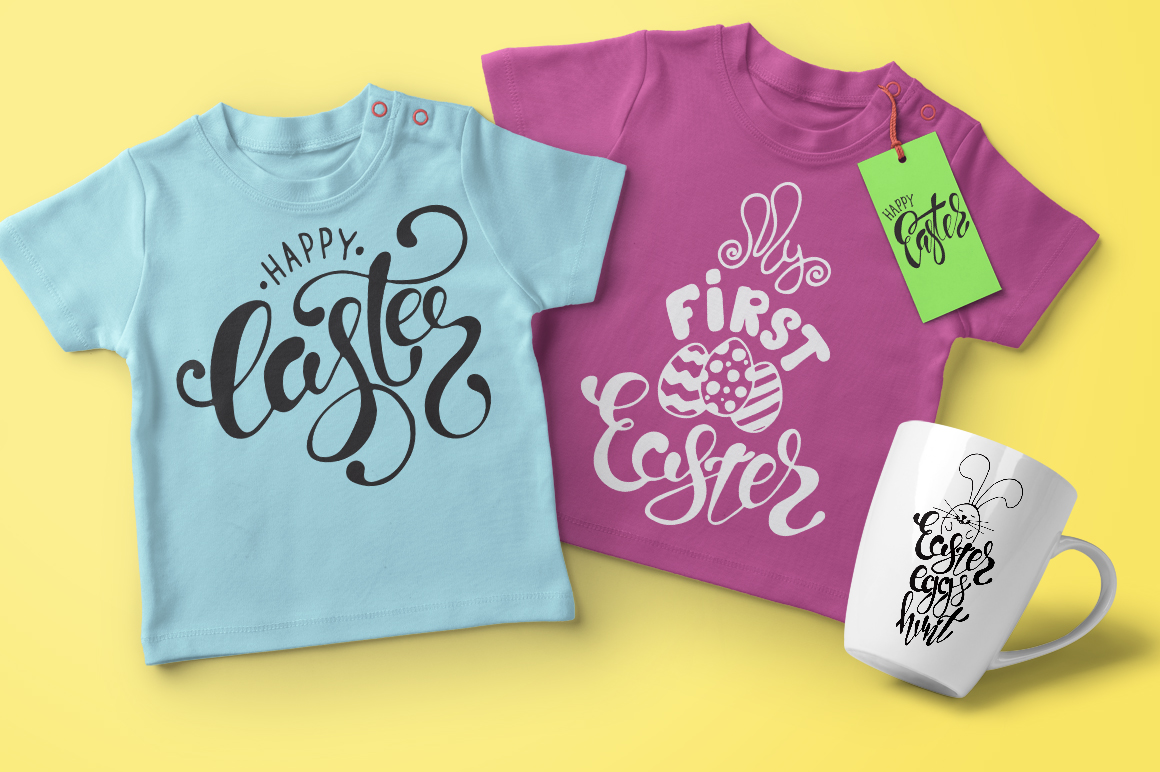 Easter quotes. Spring lettering set example image 2