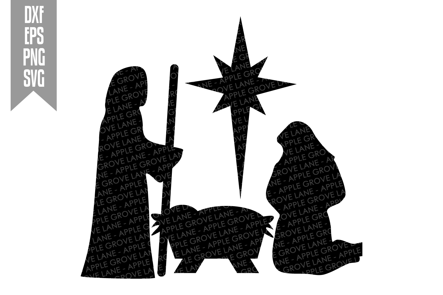 Nativity Svg Bundle - 9 designs included - Svg Cut Files example image 6