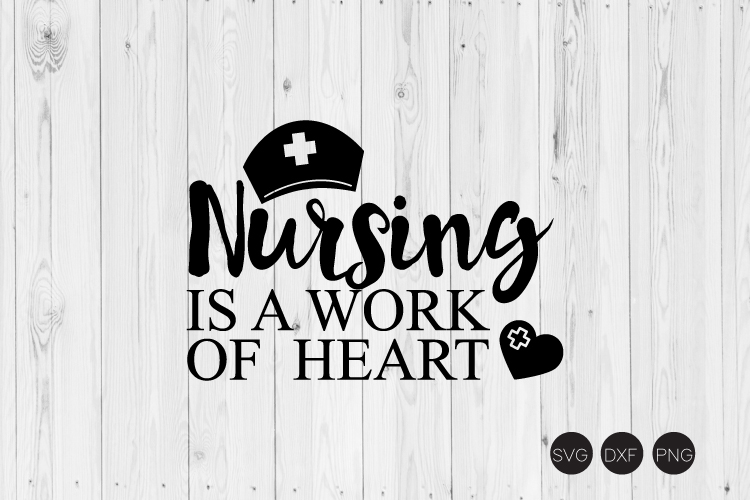 Nursing Is A Work Of Heart SVG example image 1