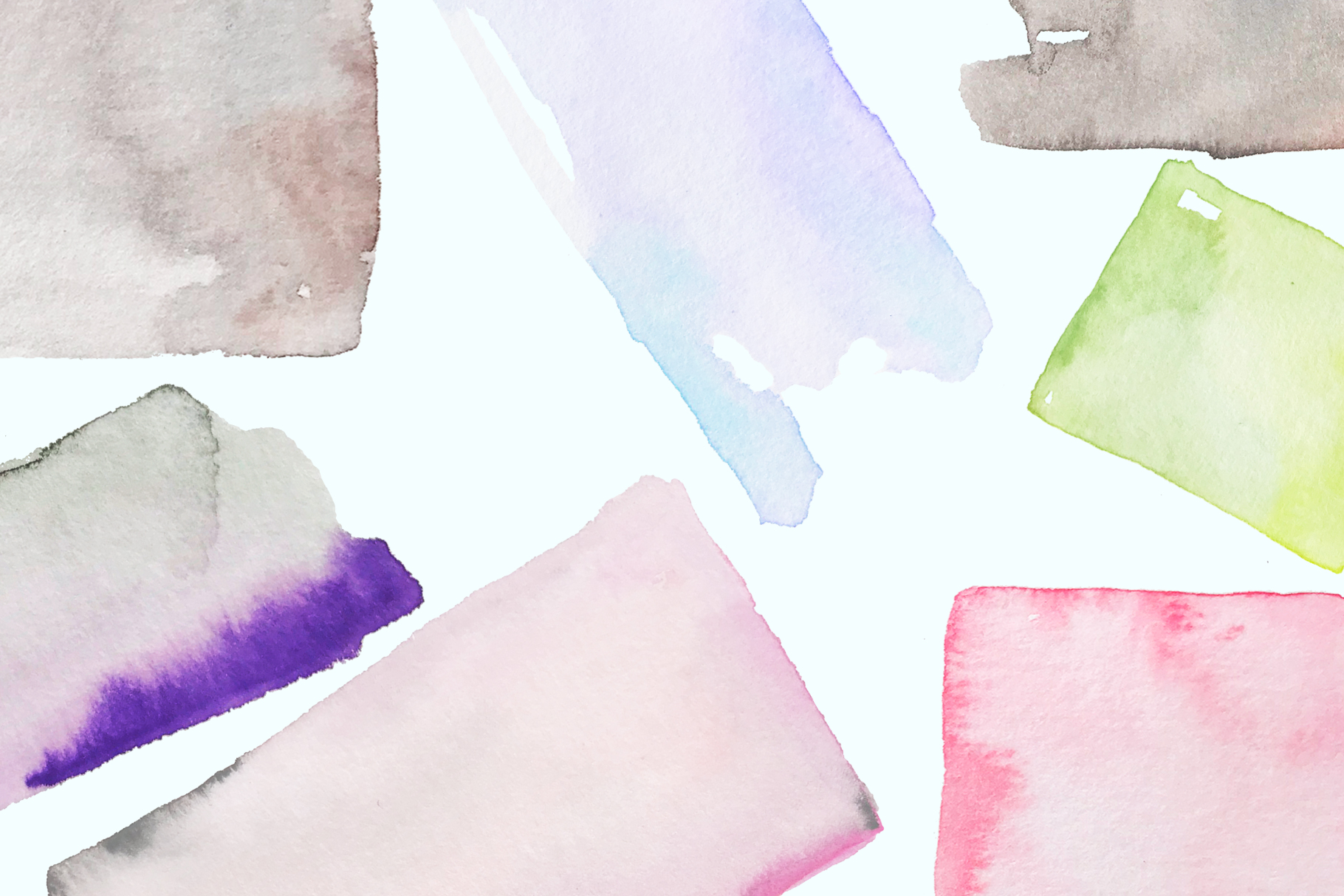 Watercolor shapes, hand painted frames and splotches example image 2