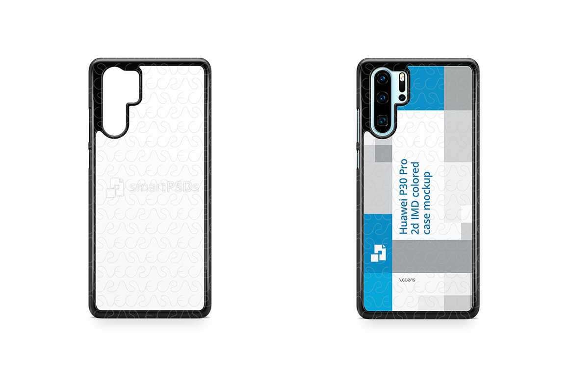 Huawei P30 Pro 2d PC Colored Case Design Mockup 2019 example image 1