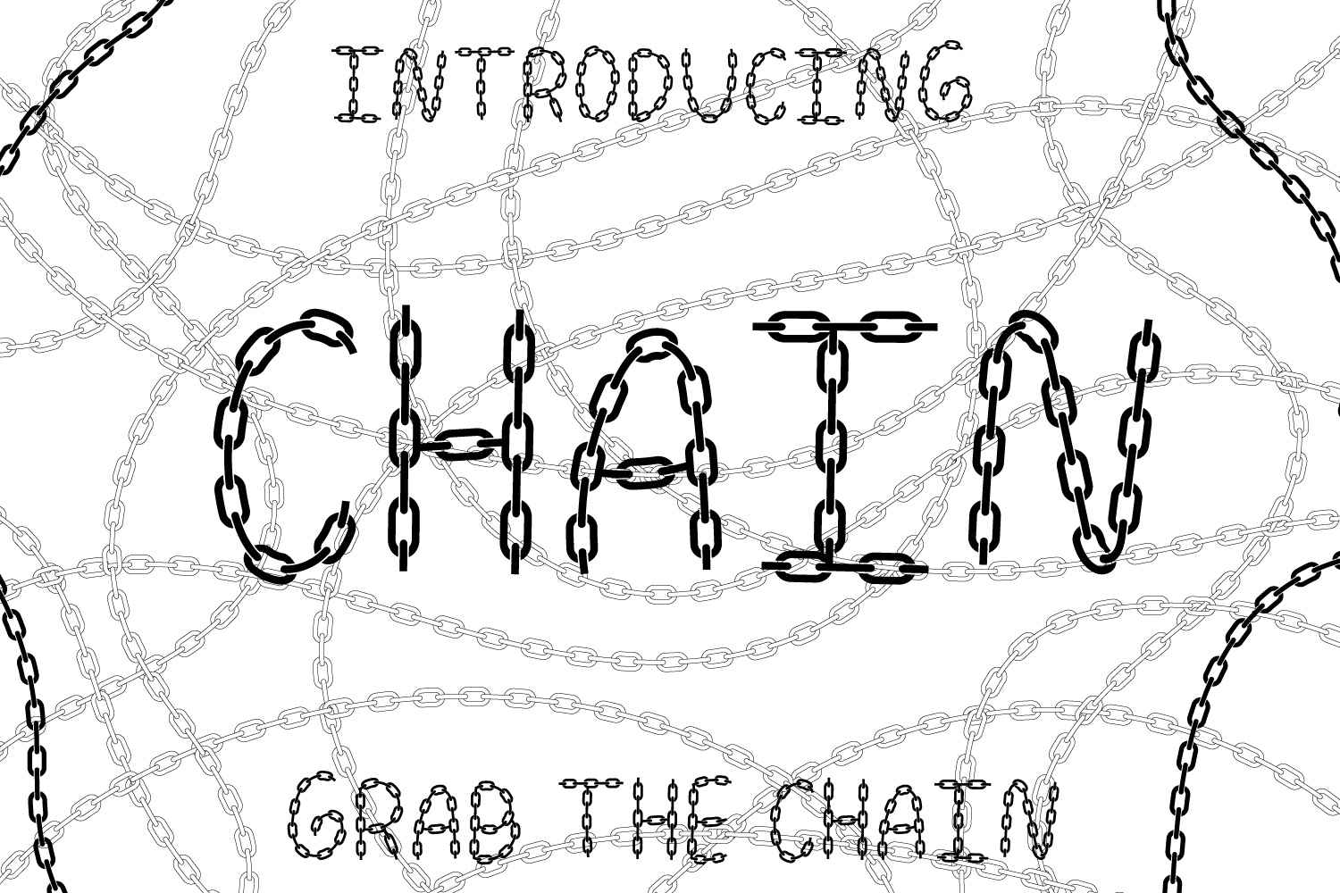 Chain Font example image 1