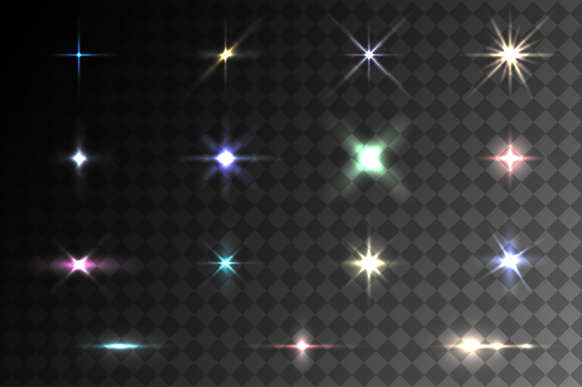 Colorful light effects. Vector eps10 example image 1