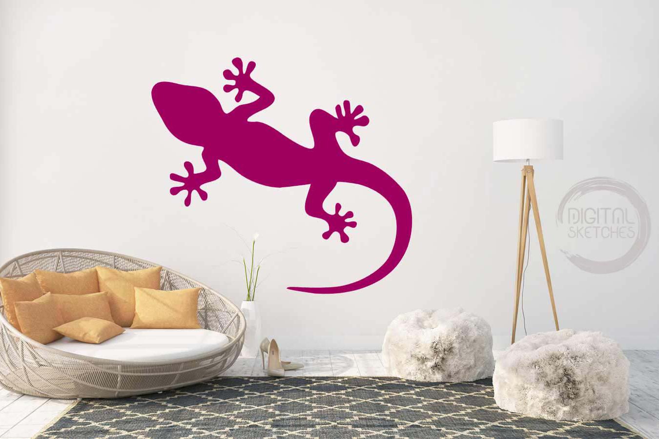 Gecko Cut File, Lizard Cut File, Salamander SVG, Vector example image 3