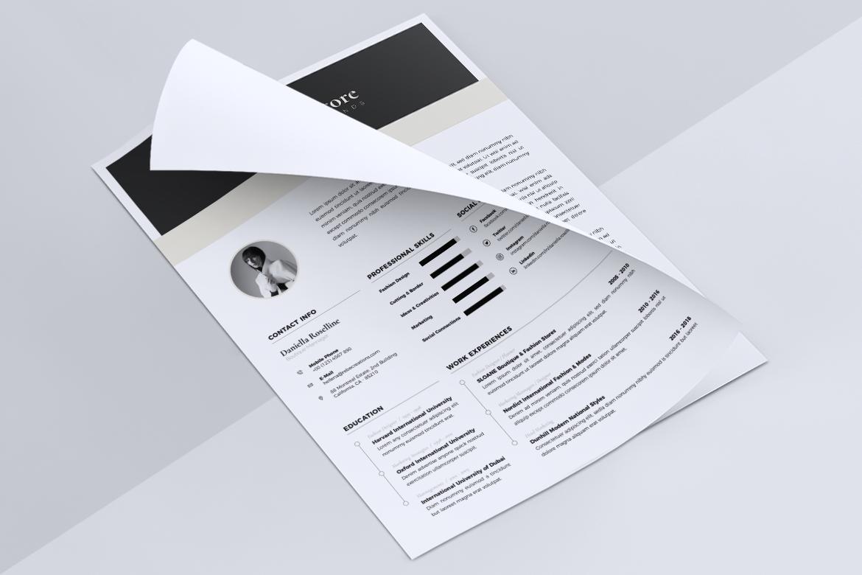 Minimalist CV / Resume Template Vol. 05 example image 6
