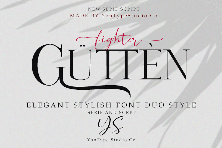 Gutten fighter Font Duo w/ Bonus 6 Logos example image 1