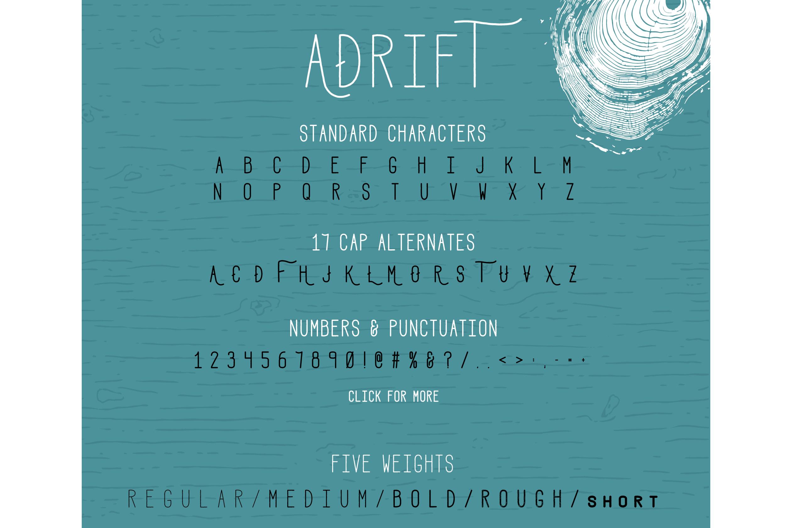 Adrift Font example image 2