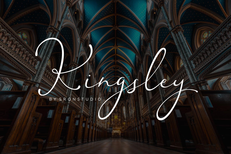 Kingsley - Modern Script Font example image 1