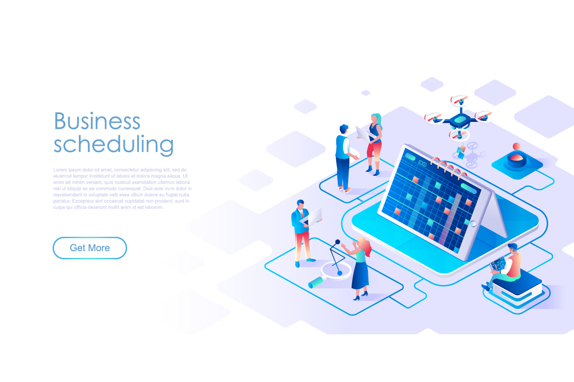 Bundle Isometric Landing Page Template Header example image 2