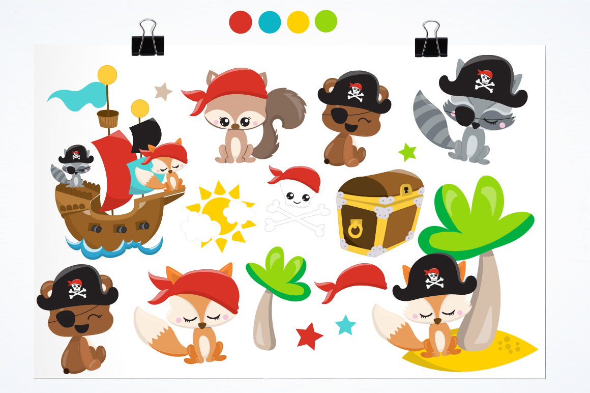 Pirate friends graphics and illustrations example image 2