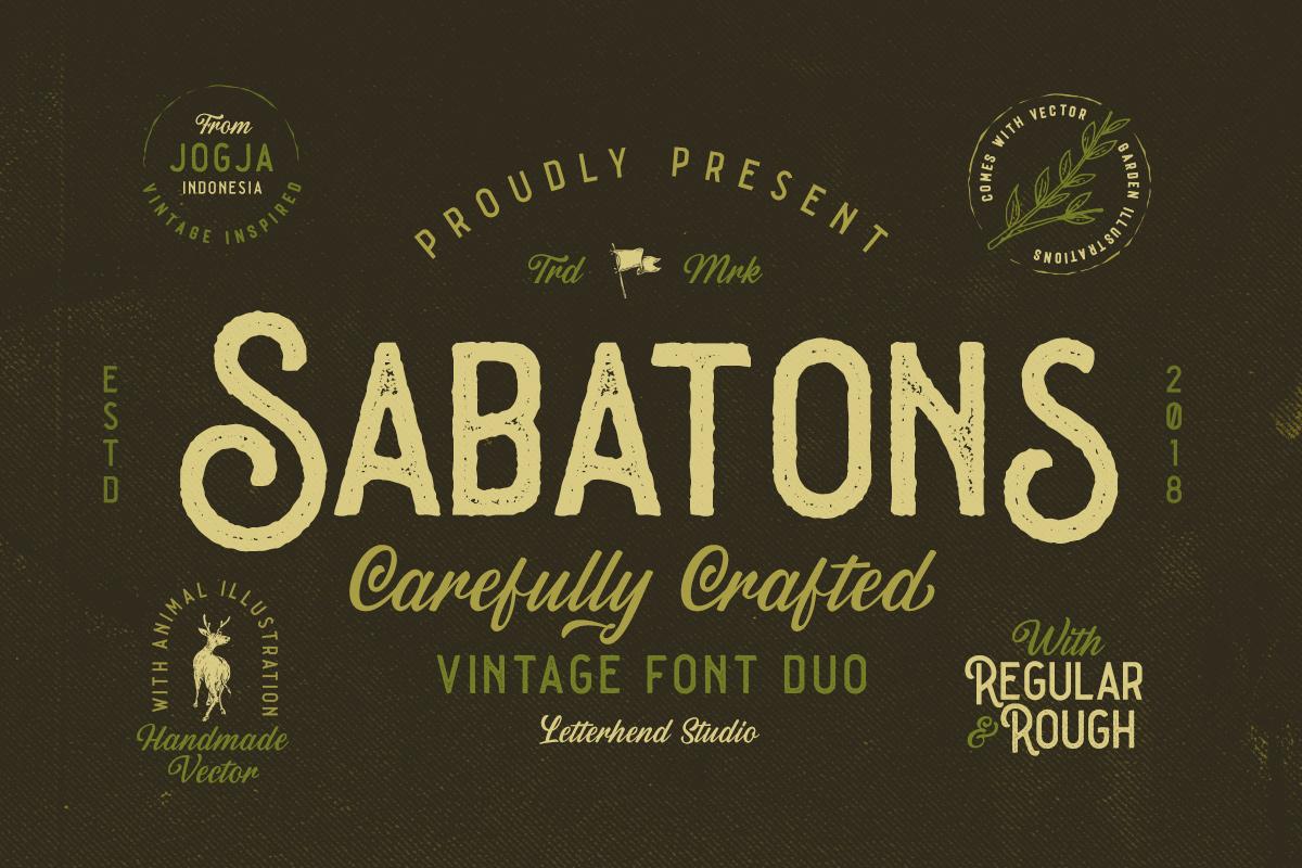 Sabatons - Vintage Font Duo example image 1