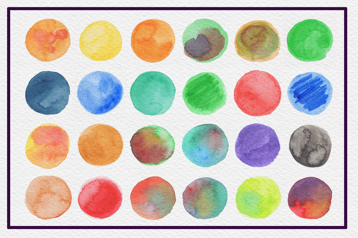 72 Circle Watercolor Textures example image 4