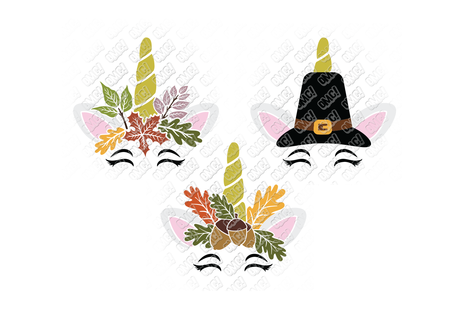 Unicorn Thanksgiving SVG Pumpkin in SVG, DXF, PNG, EPS, JPEG example image 2