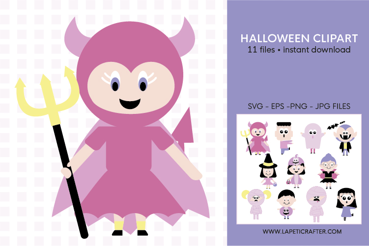 Cute Halloween clip art, halloween kids, halloween party png example image 2