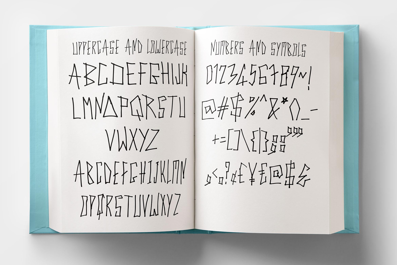 Cyber Trunk - Handwritten Caps Font example image 5