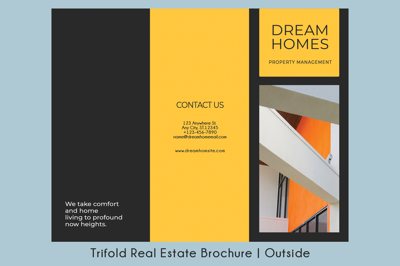 Trifold Real Estate Printable Brochure |Templates PSD/AI A4 example image 3