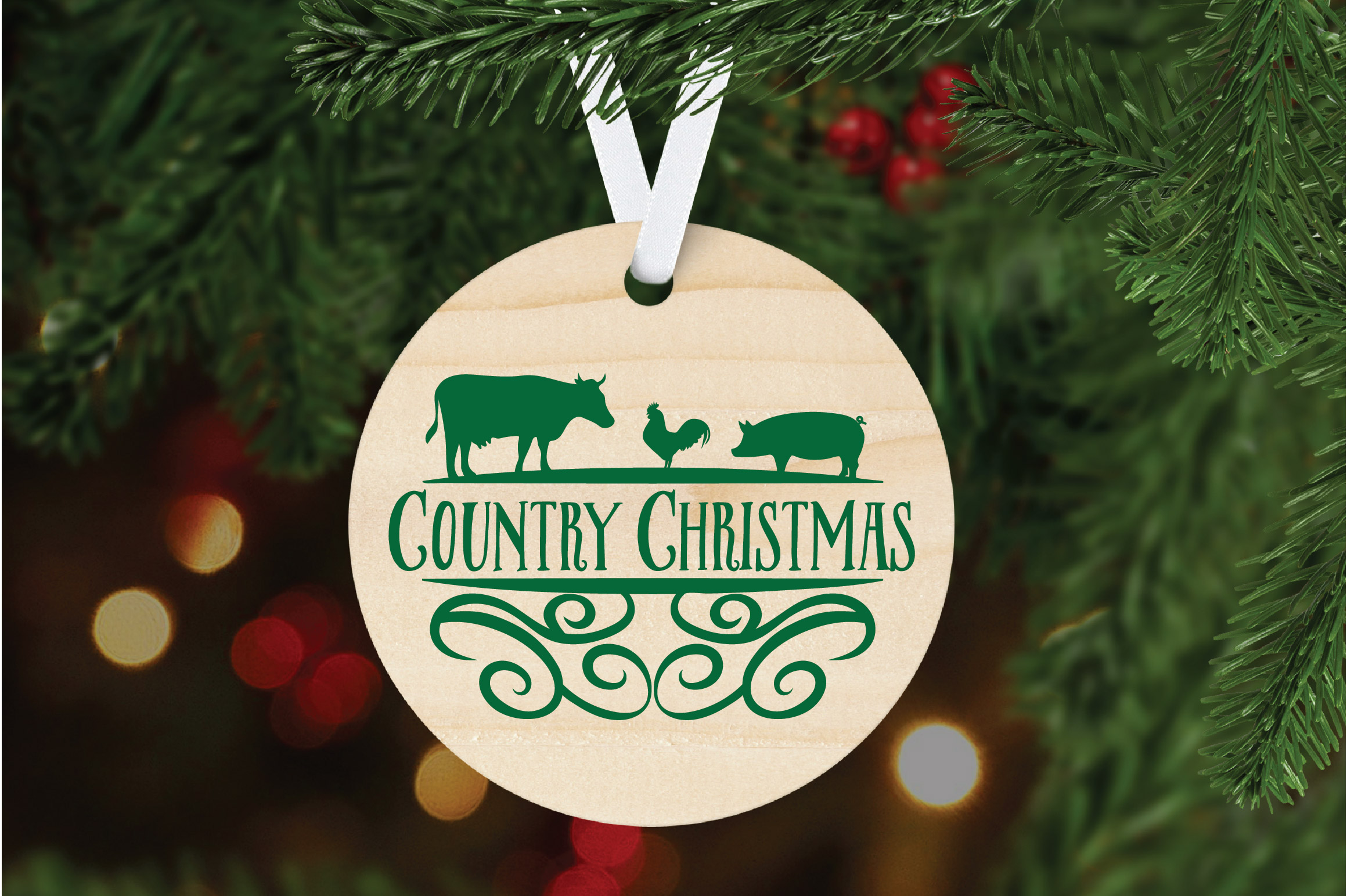 Christmas SVG Cut File - Country Christmas SVG DXF PNG EPS example image 6