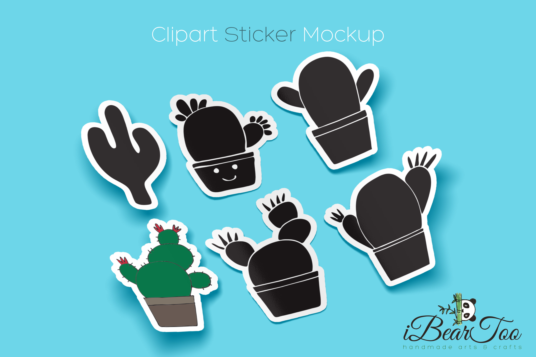 Cactus SVG Bundle Clipart Succulent Drawing Vector Cut Files example image 2