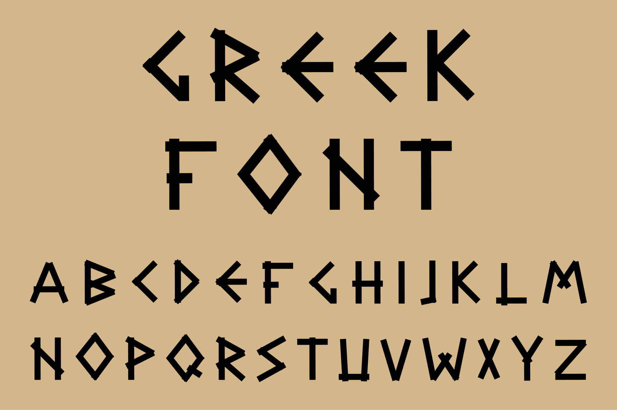 Black letters in ancient style. example image 1