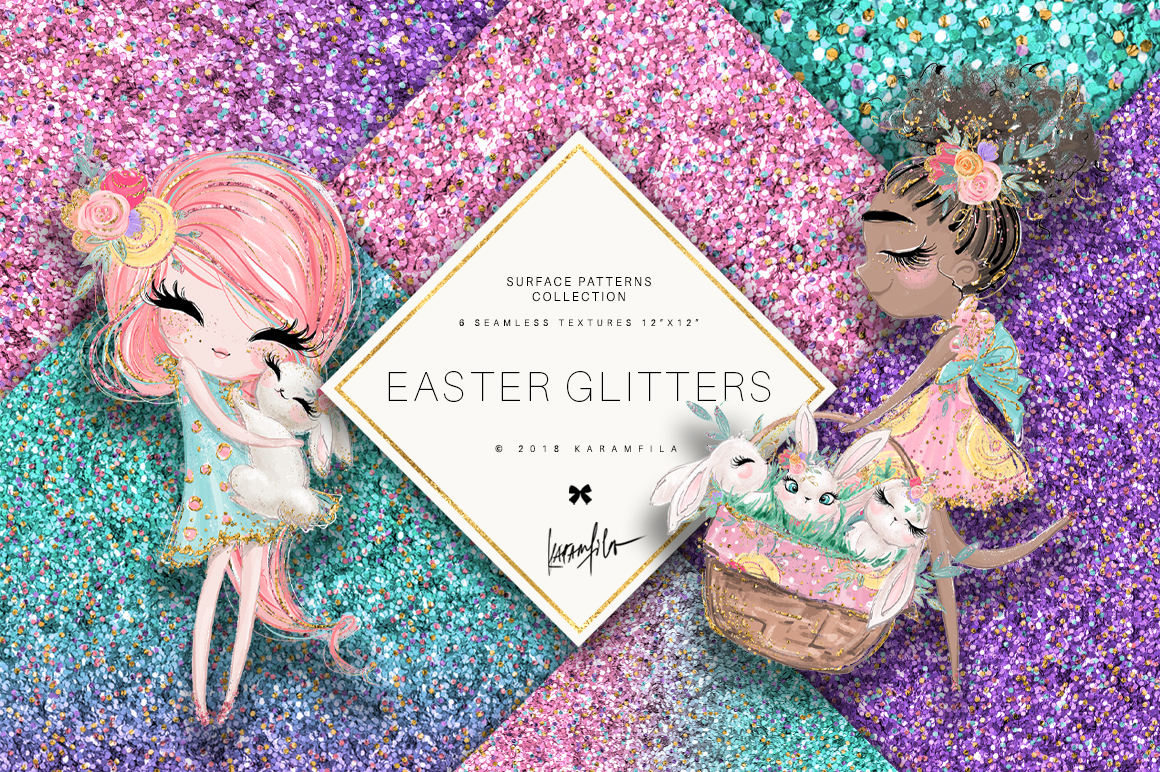 Easter Glitter Textures example image 1