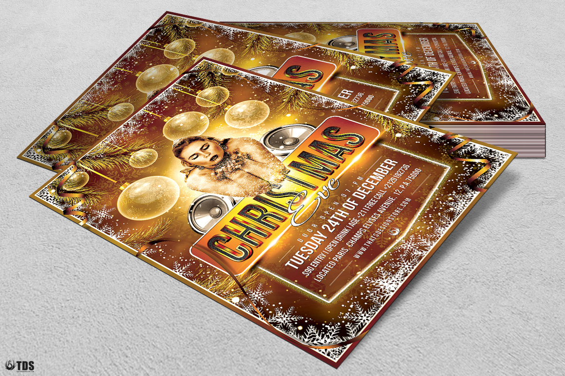 Christmas Eve Flyer Template V4 example image 4