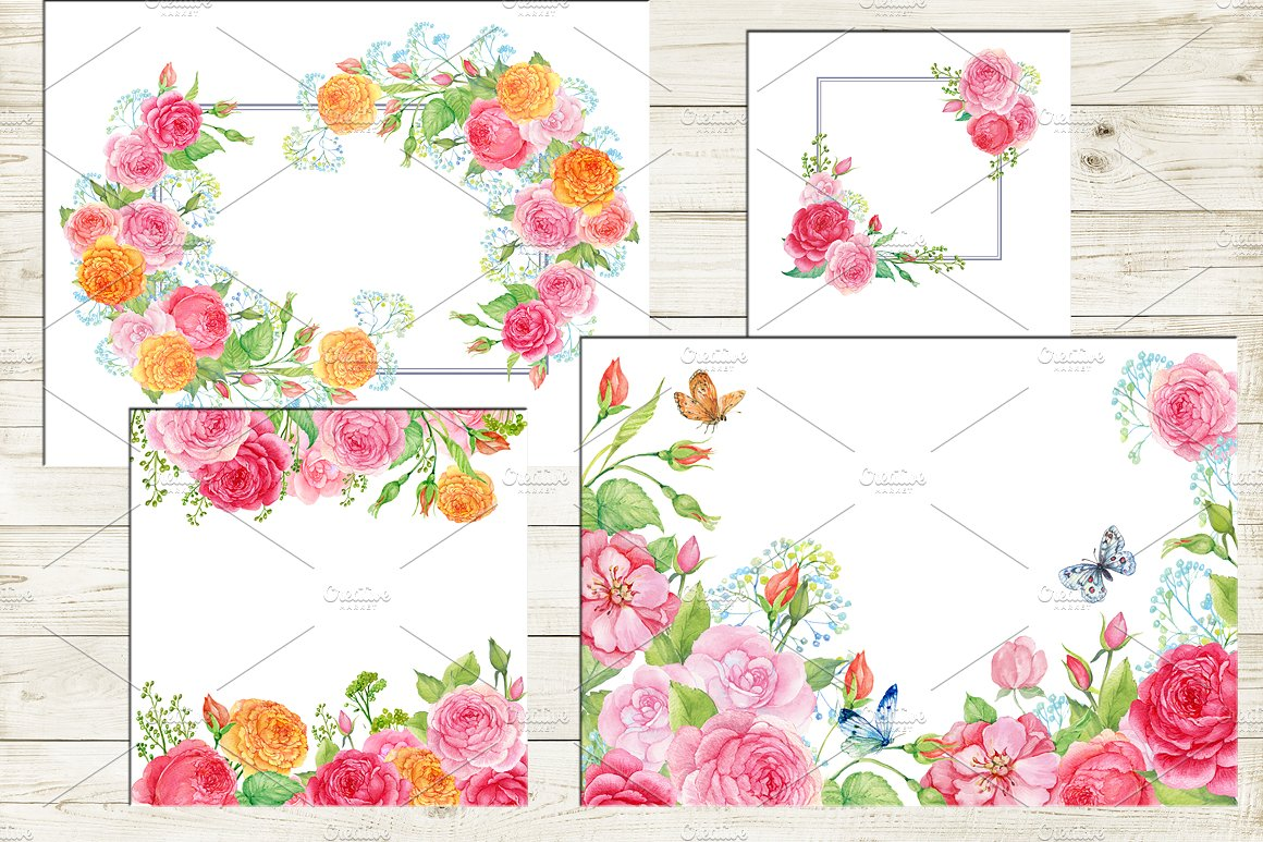 35 floral backgrounds watercolor example image 6