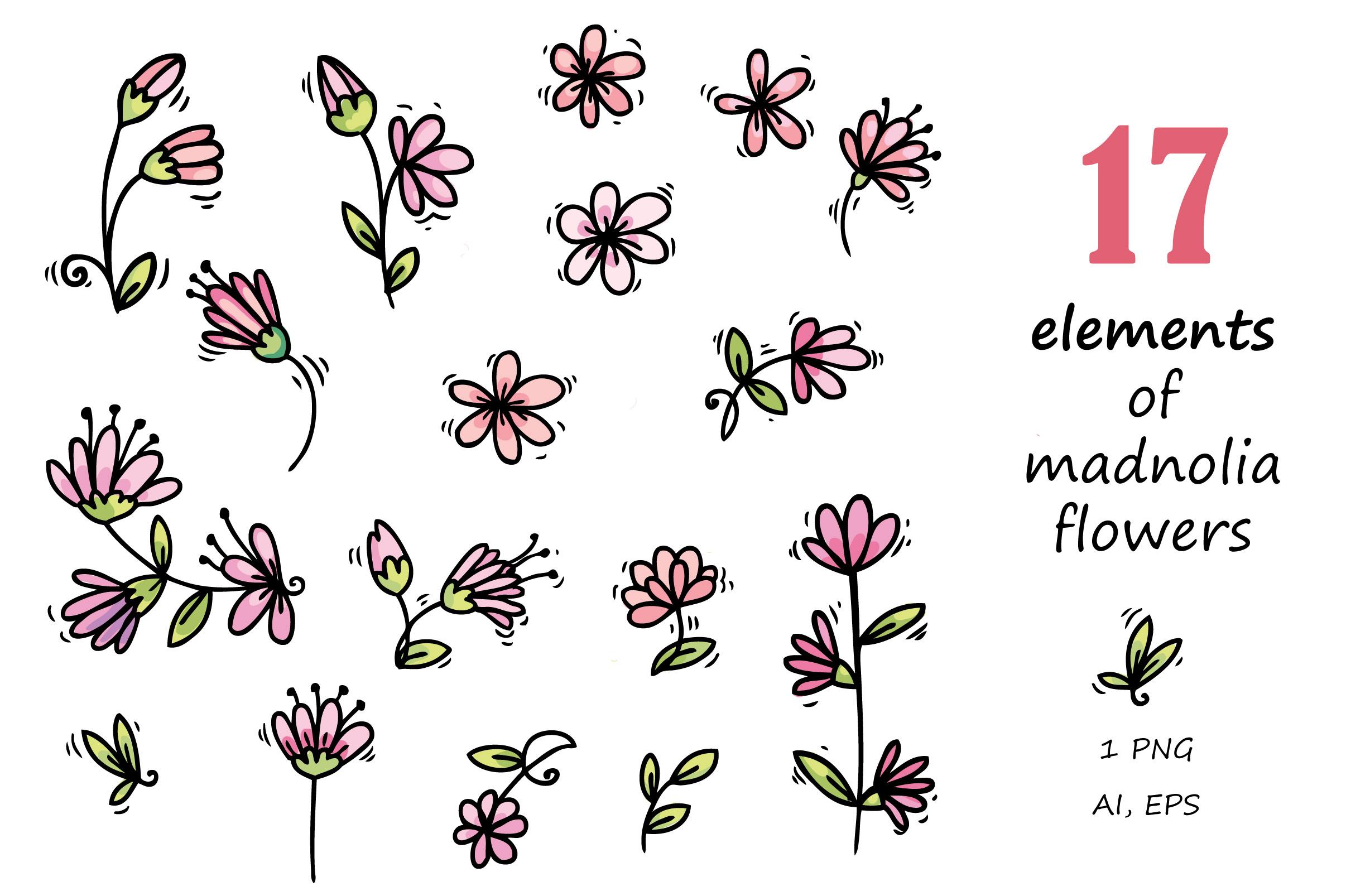 Pugs&Magnolias 29 elements example image 3