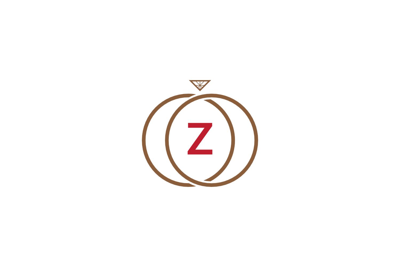 z letter ring diamond logo example image 1