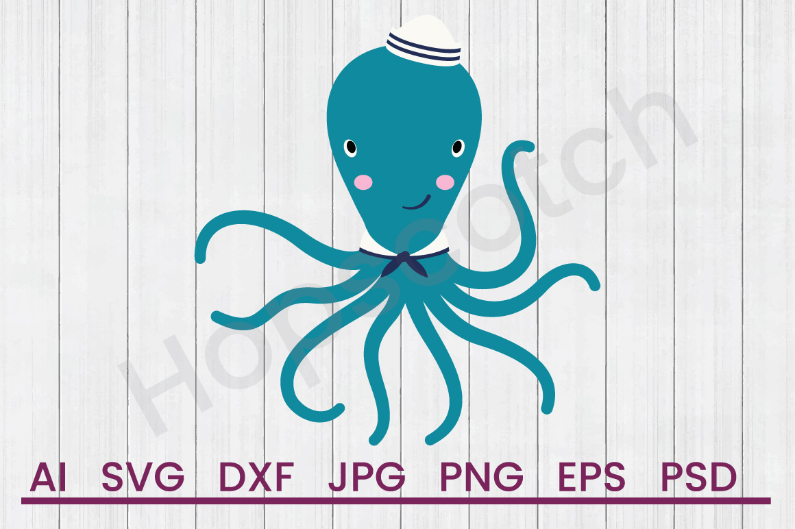 Octopus SVG, DXF File, Cuttatable File example image 1