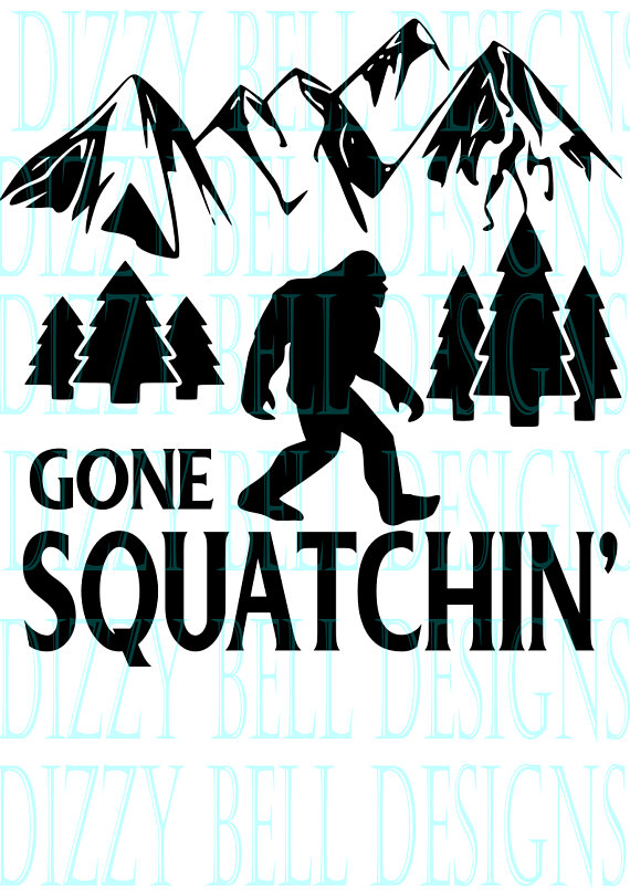 Sasquatch Bigfoot Gone Squatchin' SVG, Outdoors SVG example image 2