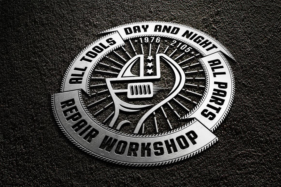 Repair workshop logo set example image 3