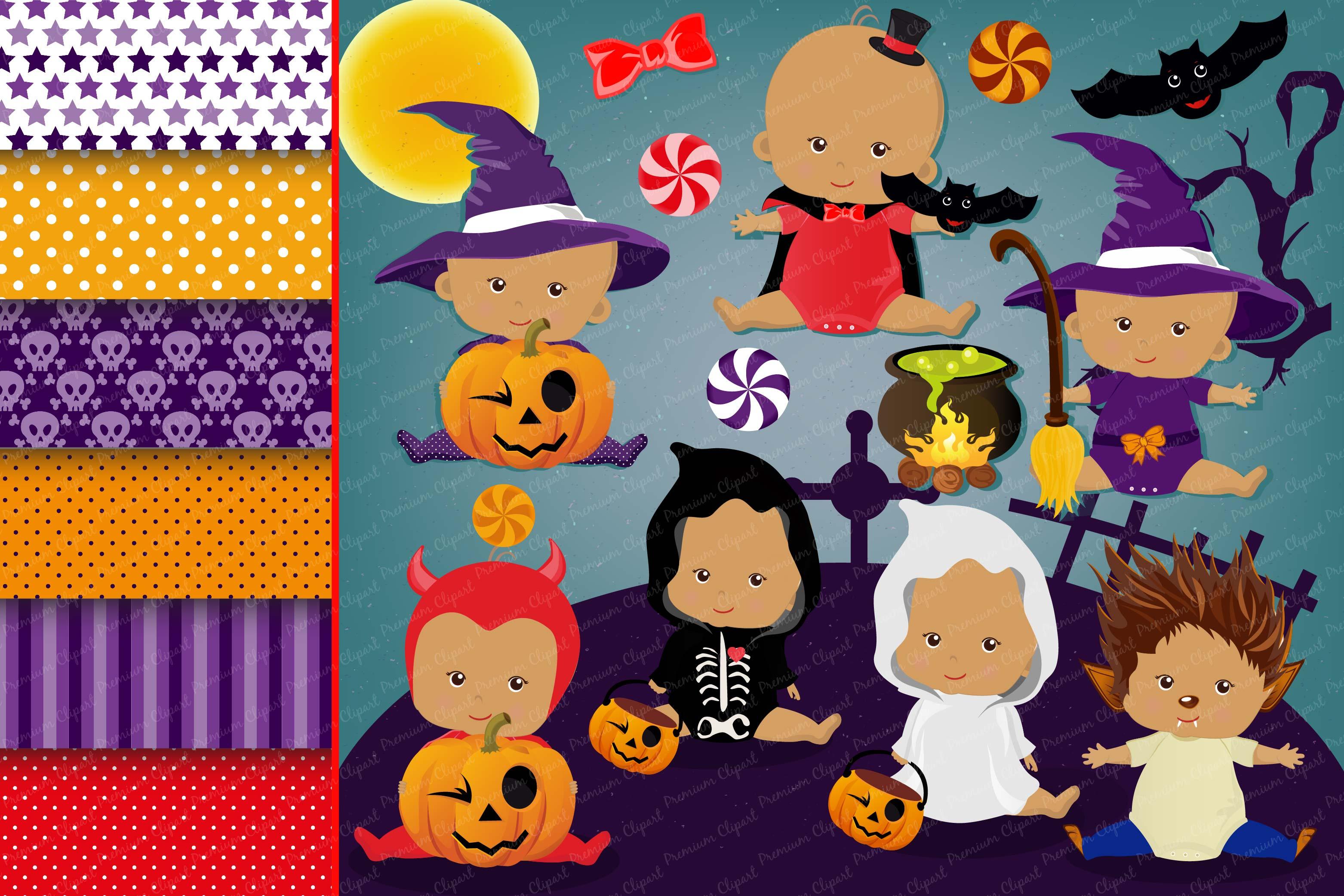Halloween baby clipart, Haloween baby graphics