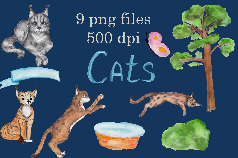 Grumpy cat clipart, savannah cat, lynx clipart, Maine coon example image 4
