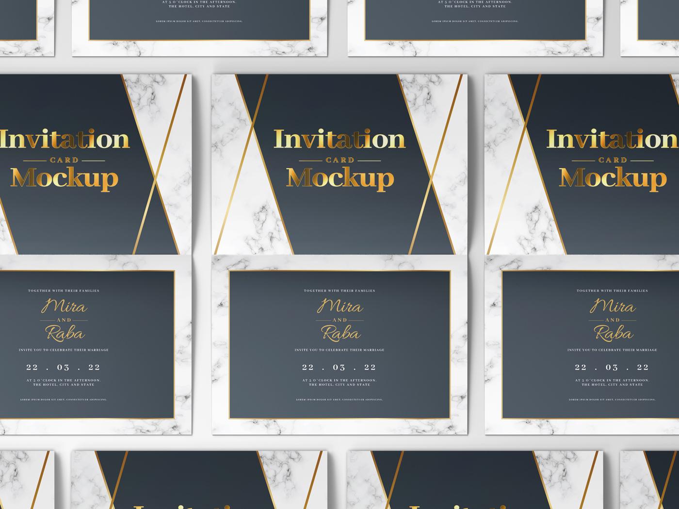 Invitation Card Mockups V1 example image 12