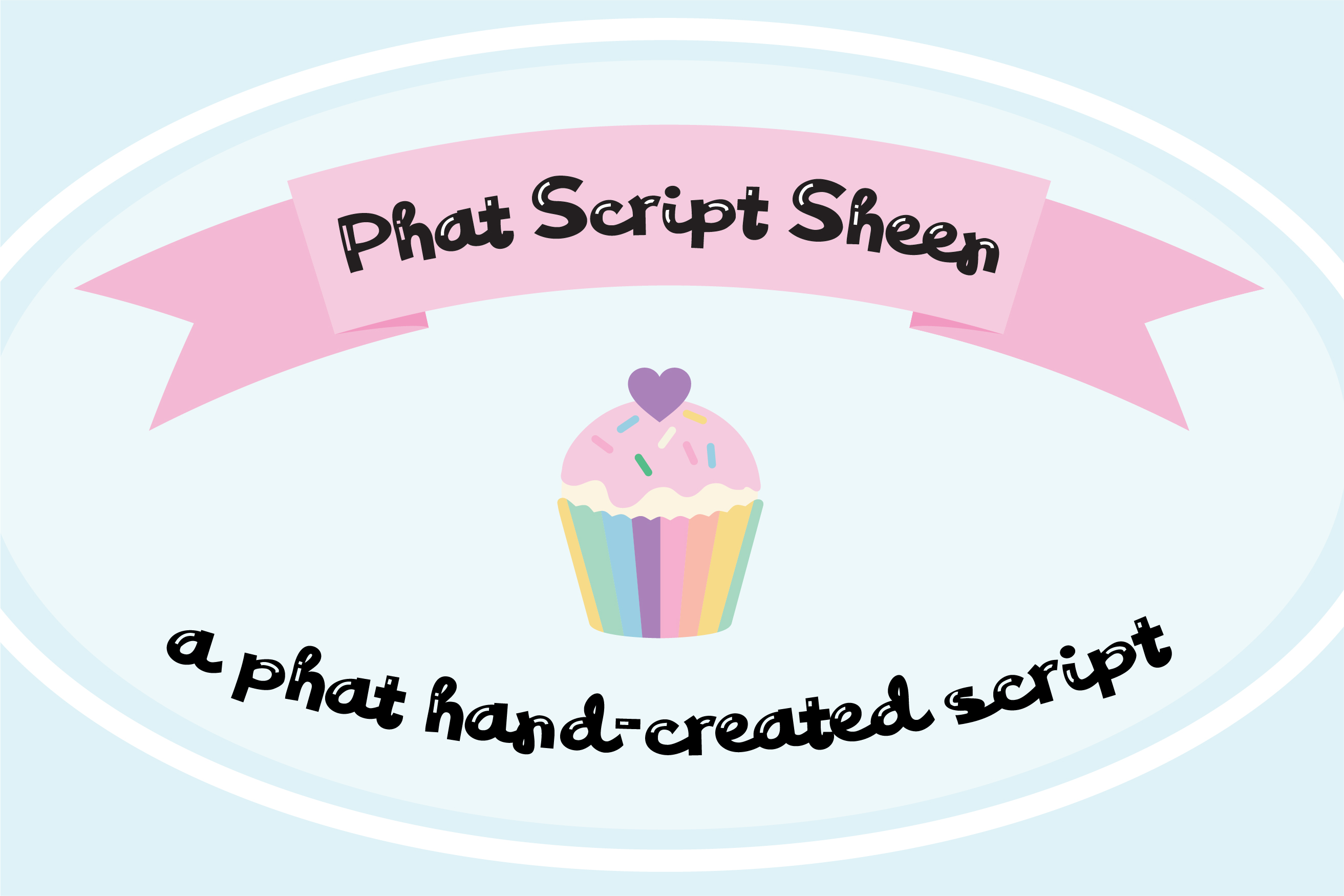 PN Phat Script Sheen Font Duo example image 1